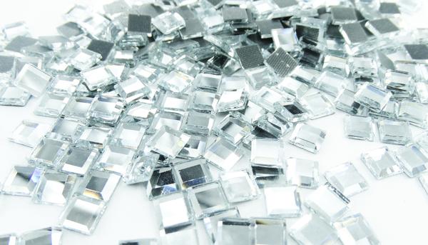 Grande cristal cuadro plata