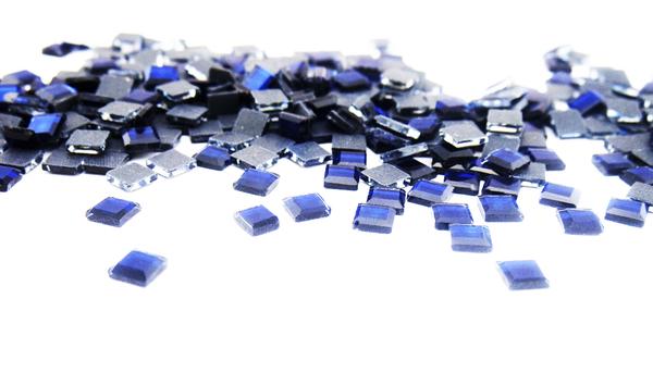 Grande cristal cuadro azul