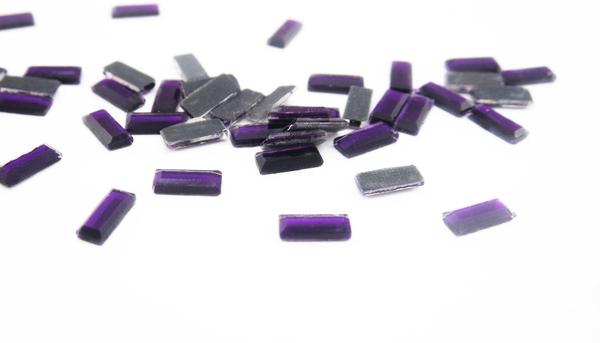 Grande cristal rect ngulo purpura